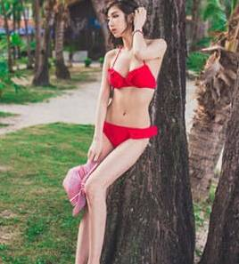 New bandage push-up bandeau zip beachwear bikini set beach dot strip swimsuit bikinis and triangl bi