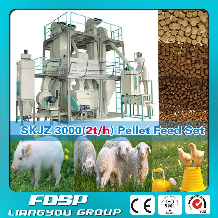High Technology 2TPH Sheep Feed Production Line