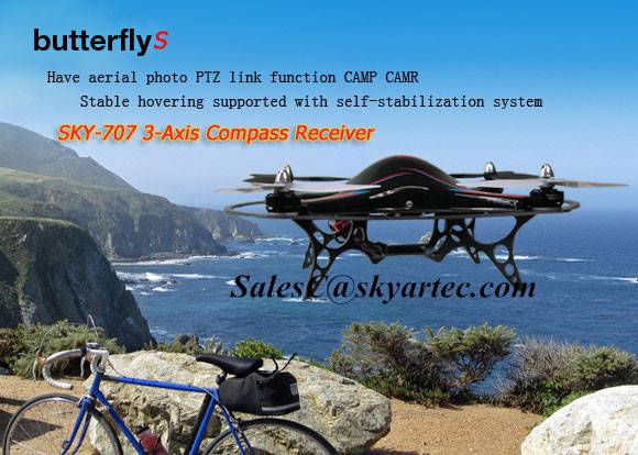 SKYARTEC ButterflyS  3-Axis Compass quadcopter RTF