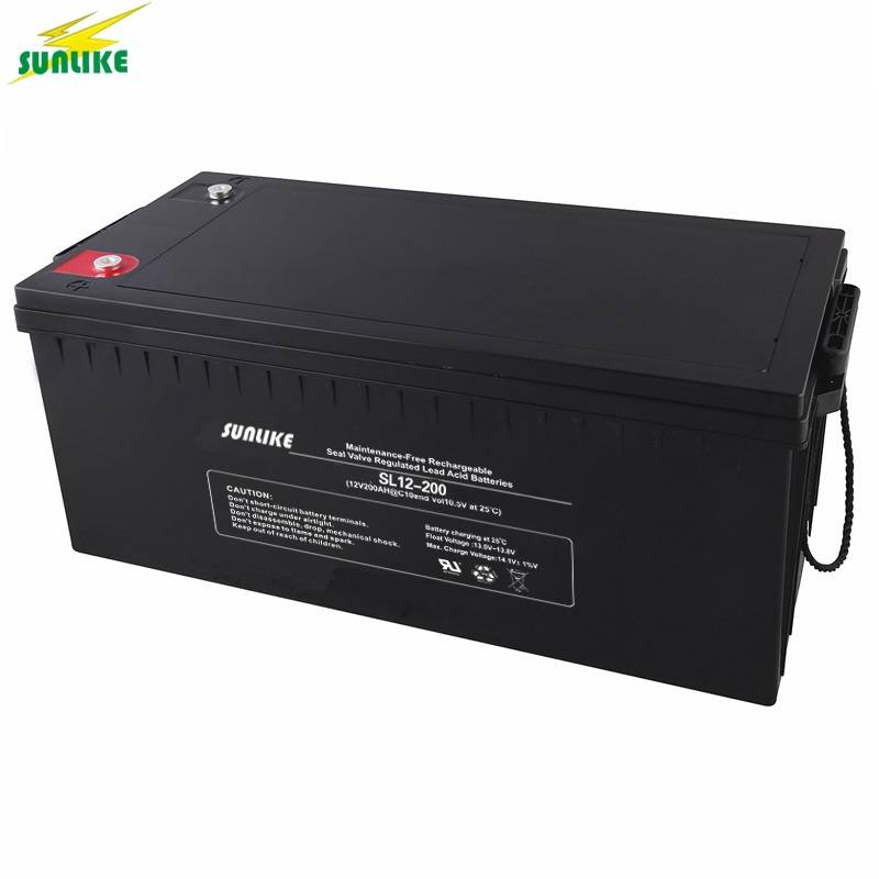 12V 200ah Deep Cycle AGM Battery Solar Power Battery for Solar System