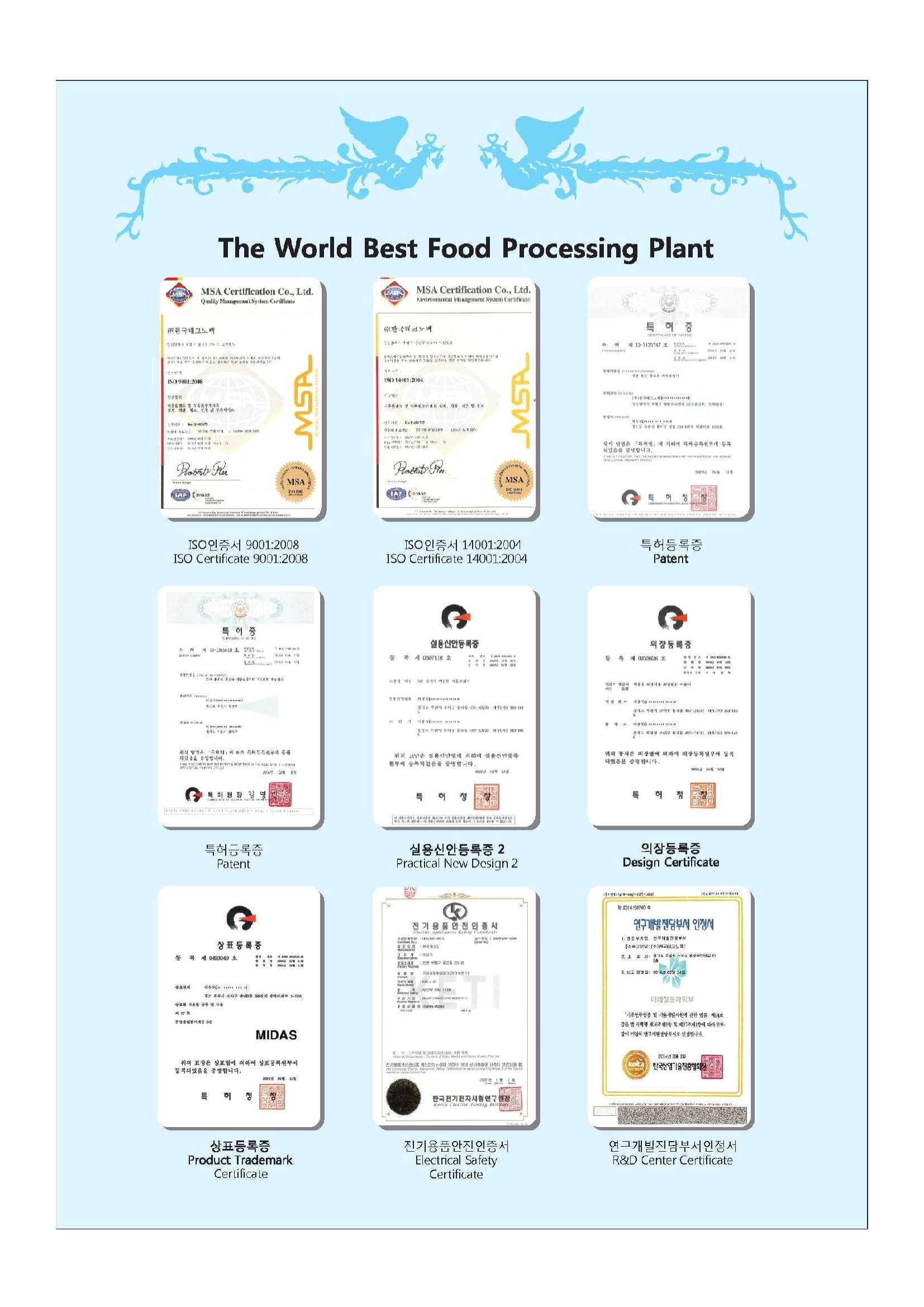 ( Certification ) Food Extraction Packing Process Manchinary