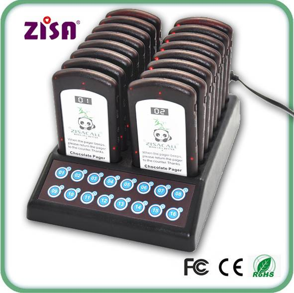 ZISA wireless queue waiter calling system / coaster pager system / restaurant guest paging system