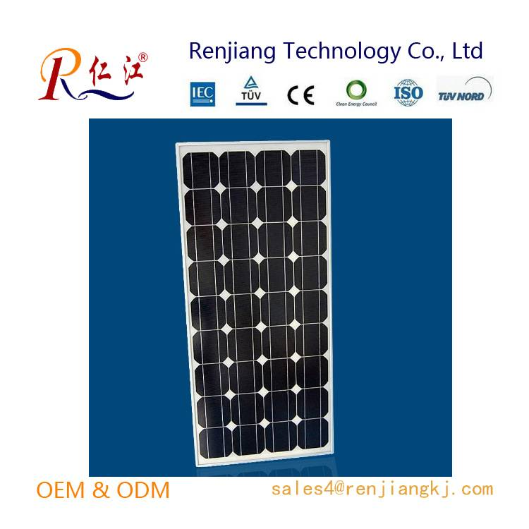 130W Mono Solar Panel, High efficiency Made of A-grade Monocrystalline Cells With TUV/IEC/CE/CEC Cer