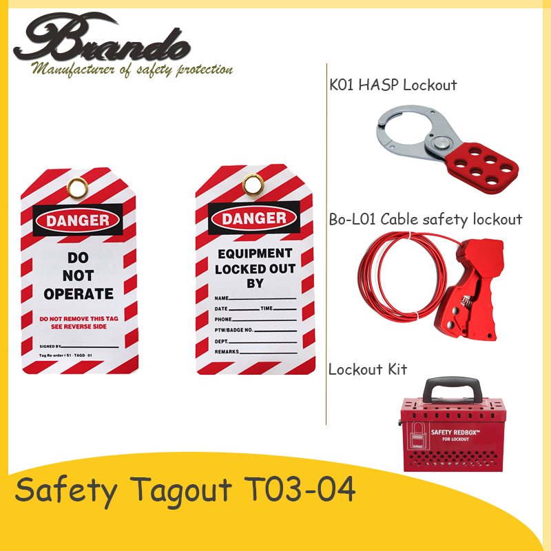 Safety Lockout Tagout PVC Padlock Label Safety Tag and Sign