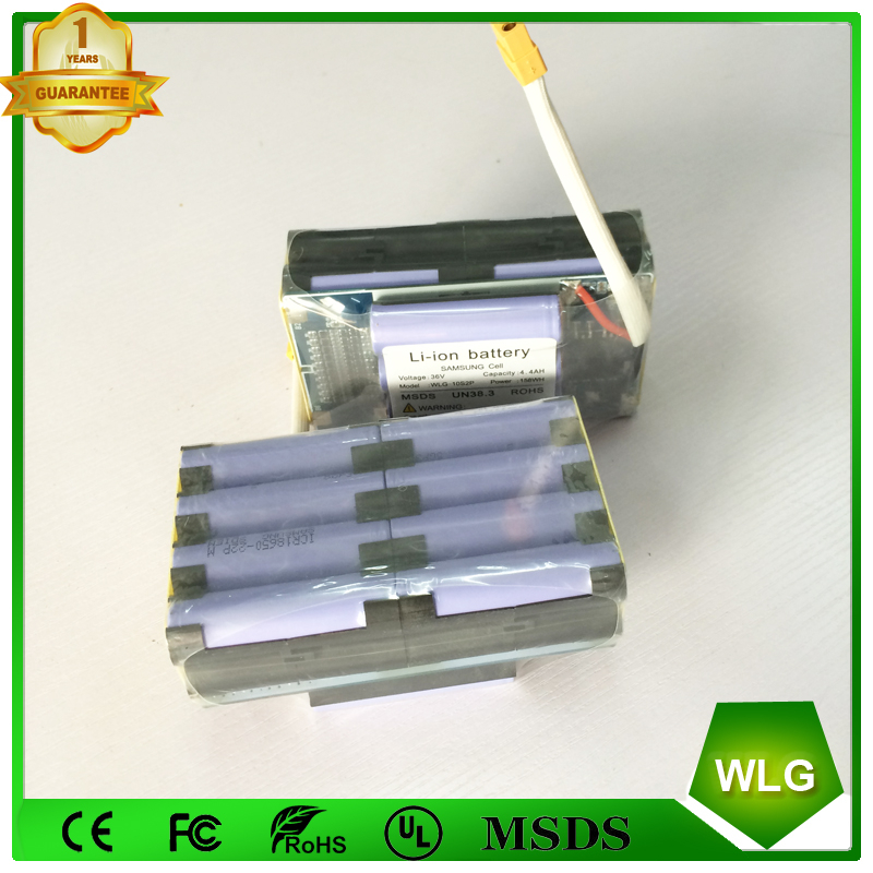 36V 4.4AH 10s2p 158WH Samsung battery Electric scooter hoverboard replacement battery Pack