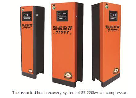 Tube-type heat recovery system for air compressor