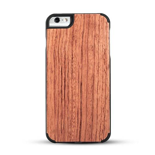 New design premium wood phone case solid phone protective cord back high quaility Iphone6/6P Rosewoo