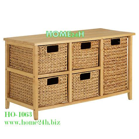 Water hyacinth cabinet - 5 drawers Water Hyacinth or Seagrass