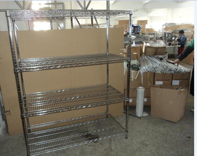 Multi-purpose Chrome Steel Wire Storage Shelf Rack