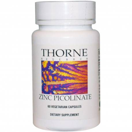 Megavitamins - Zinc Picolinate Thorne Research Dietary Supplement - Hypoallergenic