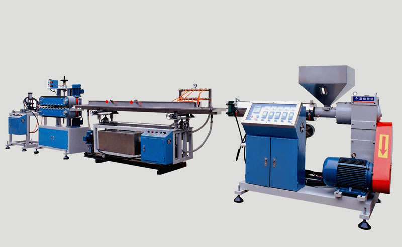 Guangzhou plastic processing factory plastic exturding machine abs profile making machine