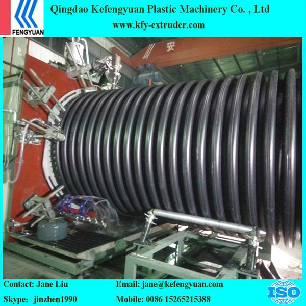 HDPE Inner rib enhanced spiral water sewage pipe production line