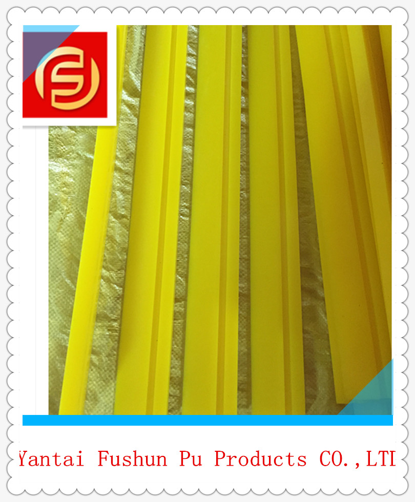 Polyurethane Yellow Turbo Squeegee / PU Squeegee Blade