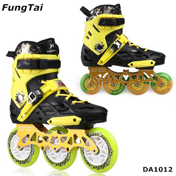 2 In 1 Freeline 4 Wheels Roller Inline Skates And 3 Big Wheels Speed Skate Shoes (DA1012)
