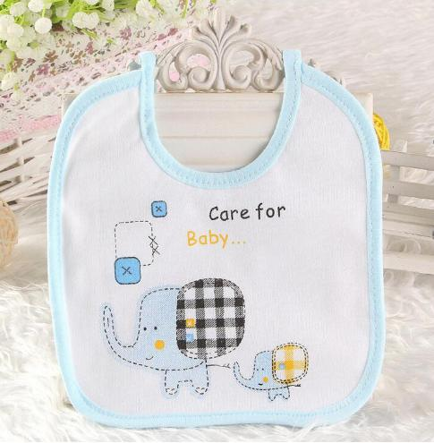 1 piece Cotton New-born cartoon elephant girls children baby bibs, gift feeding towel burp stuff Fab