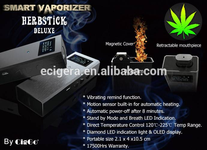 Wholesale portable weed smoking vaporizer in five colors