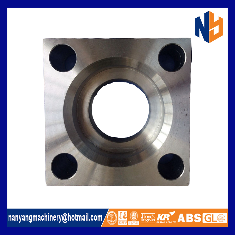 China customed threaded square flanges