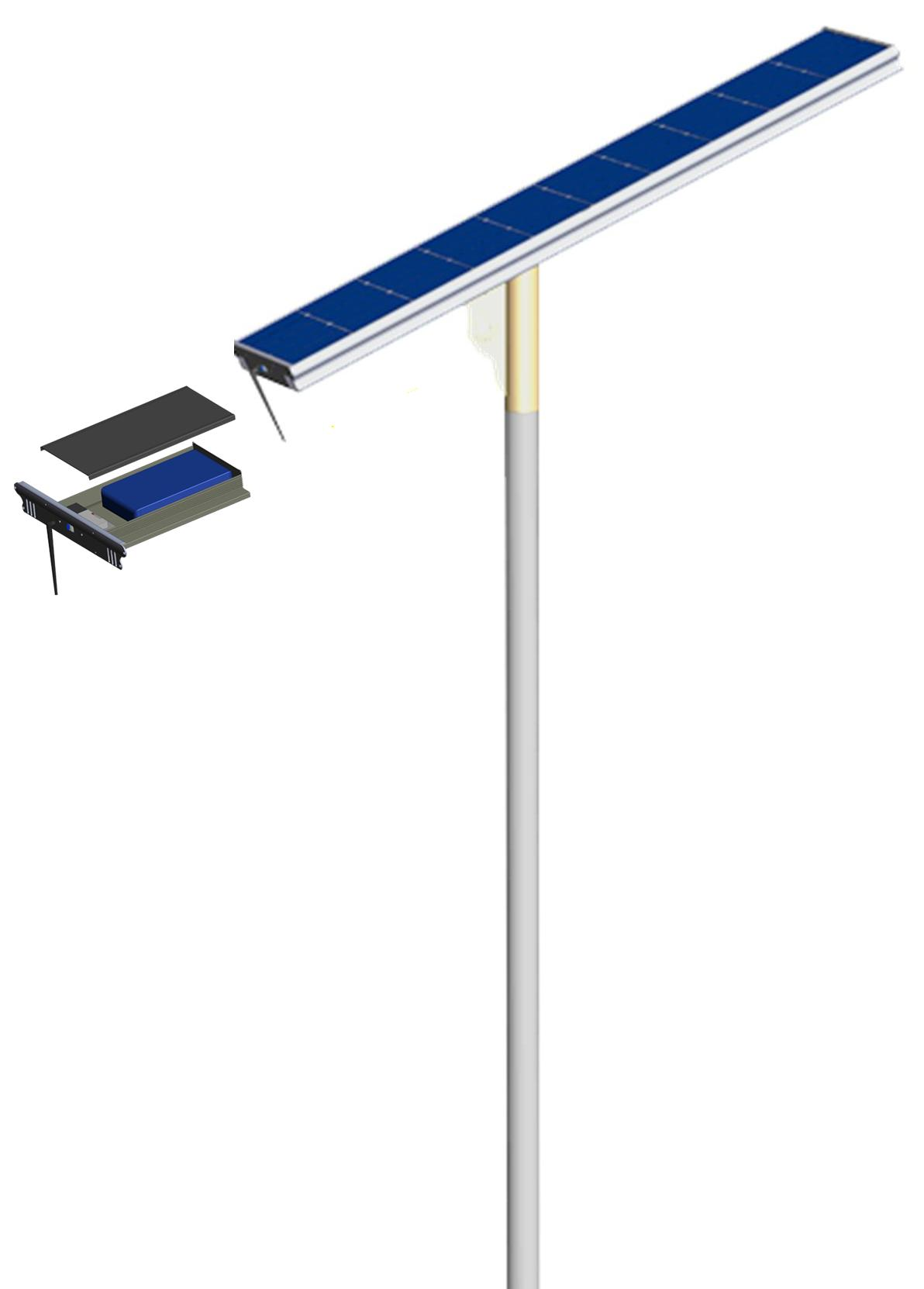 Toppest quality high power 3 in 1 solar street lamps