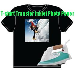 T-shirt heat transfer inkjet photo paper for dark color fabrics