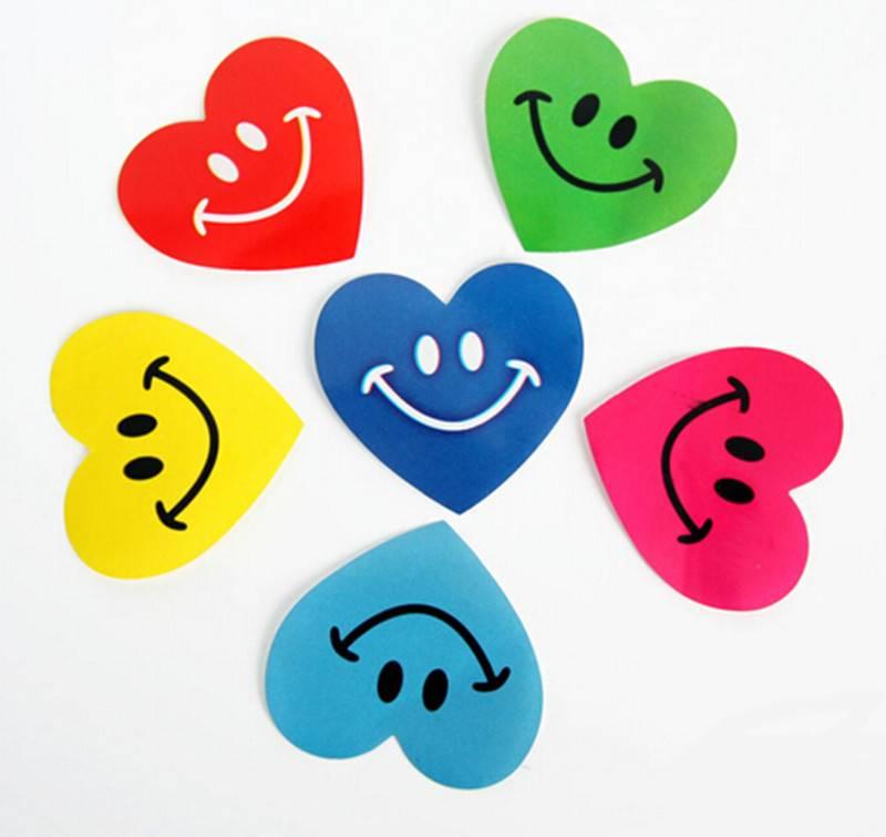Heart shape sticker non-setting adhesive