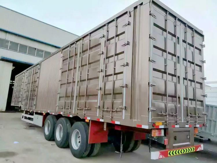 40t 60t van semi trailer with factory price