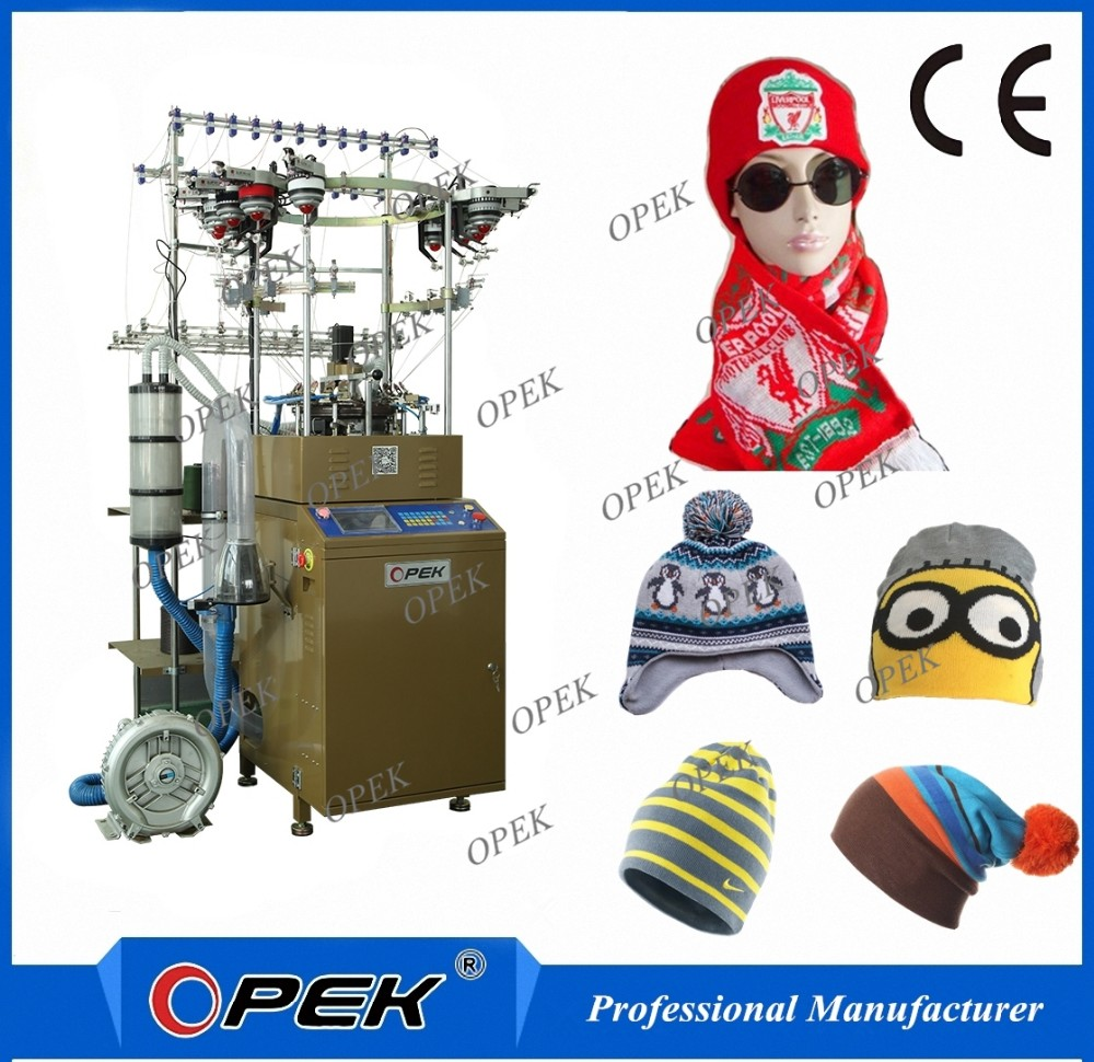 OPEK high speed cap and scarf circular knitting machine
