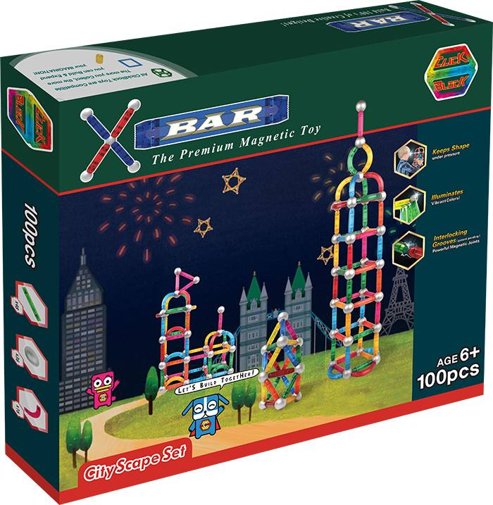 X-BAR CITY SCAPE Educational magnetic block toy