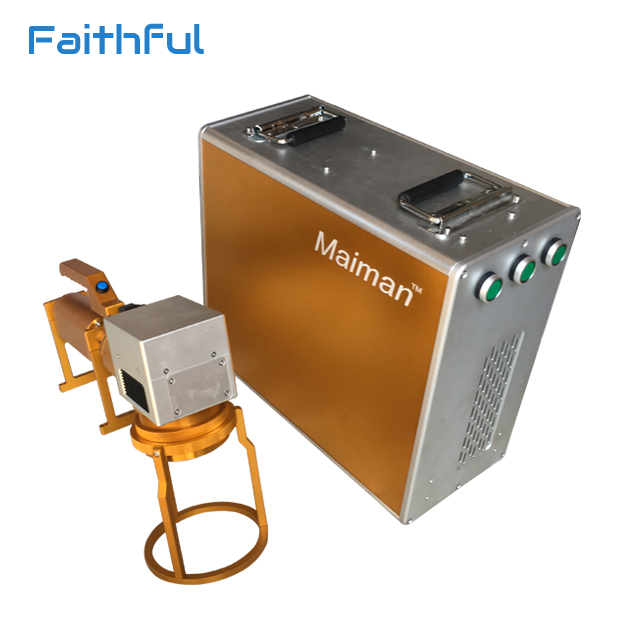 Laser marking machine on metal parts and ear tag