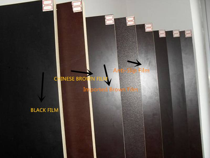 the strong and durable film faced plywood with black/brown/red color for construction