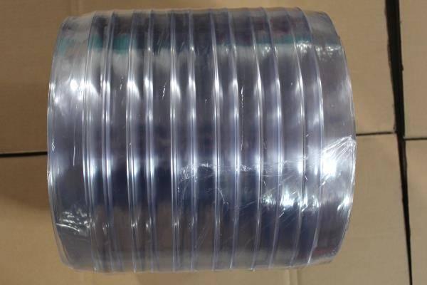 Soft ribbed 2mm/3mm pvc clear plastic rolls,pvc strip curtain plastic rolls 2mm