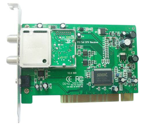 PC/Laptop Computer PCI-Digital Satellite TV Tuner Card (HT6611)