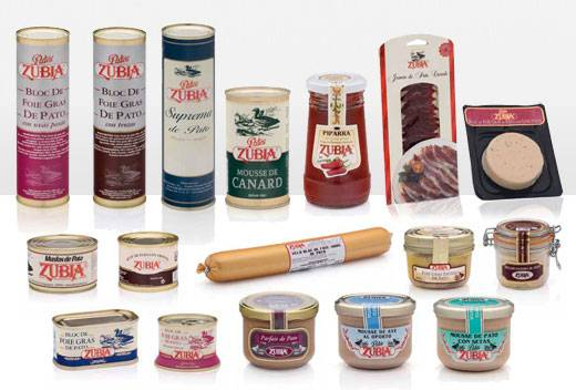Duck and goose products and pates, foie...