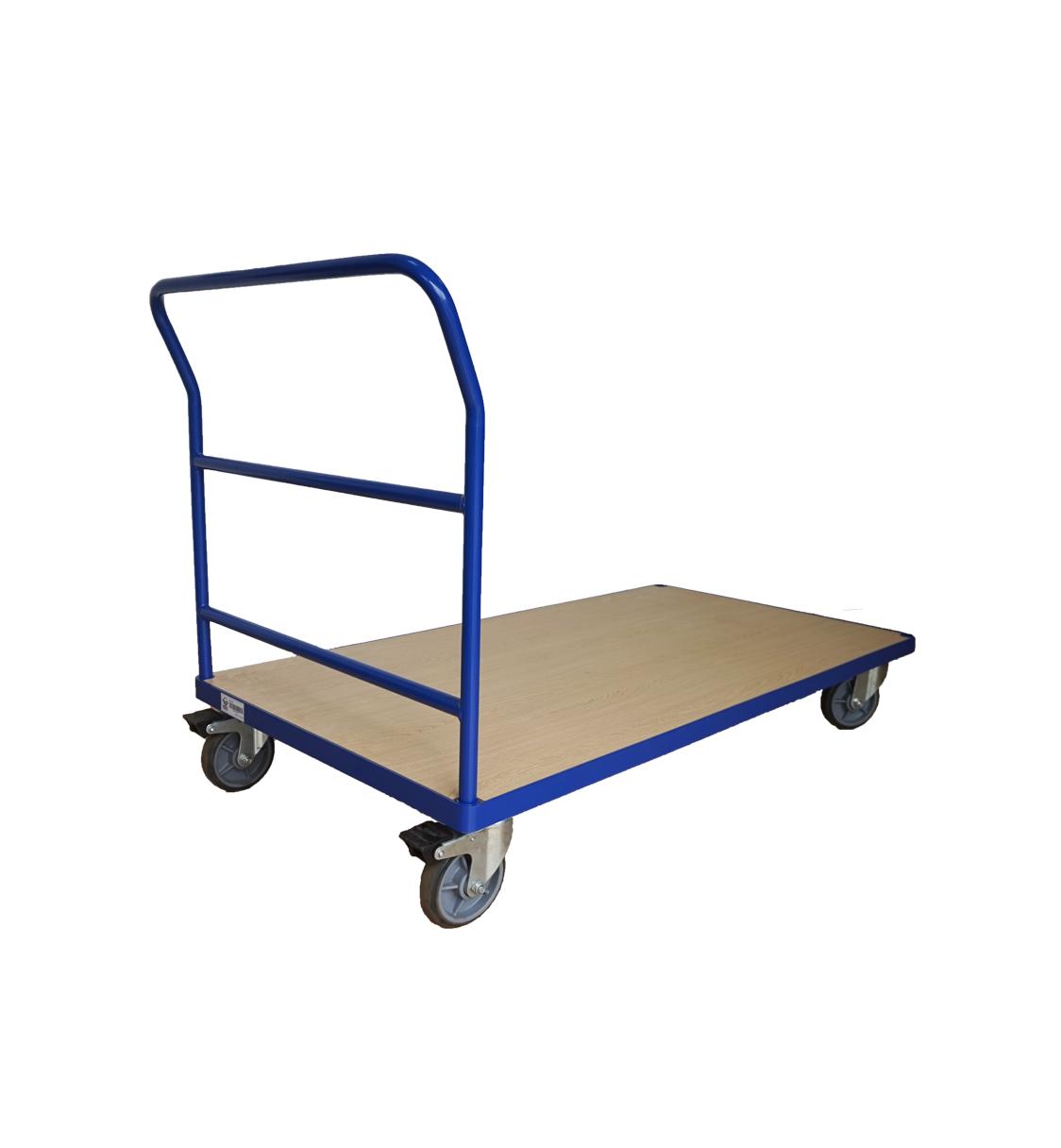 """1102 Lbs 60""""X30"""" Steel Bound Wood Deck Platform Truck 6'' PU Wheel"""