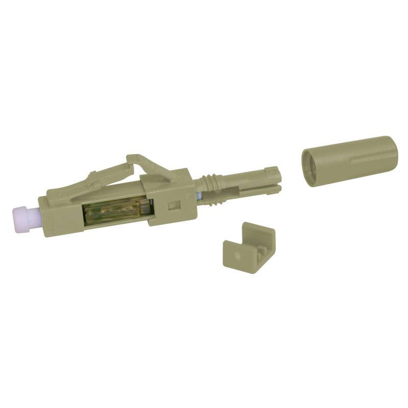 Fast Installable Fiber Optical Connector Singlemode / Multimode Plastic Beige Color