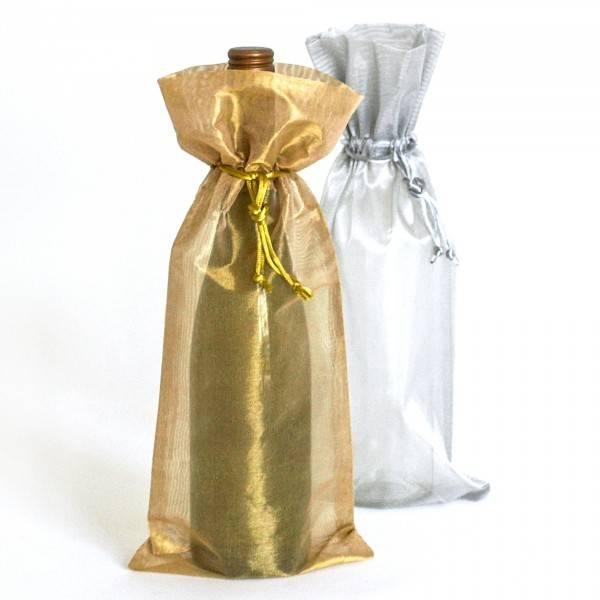 Organza wine bottle packaging bag