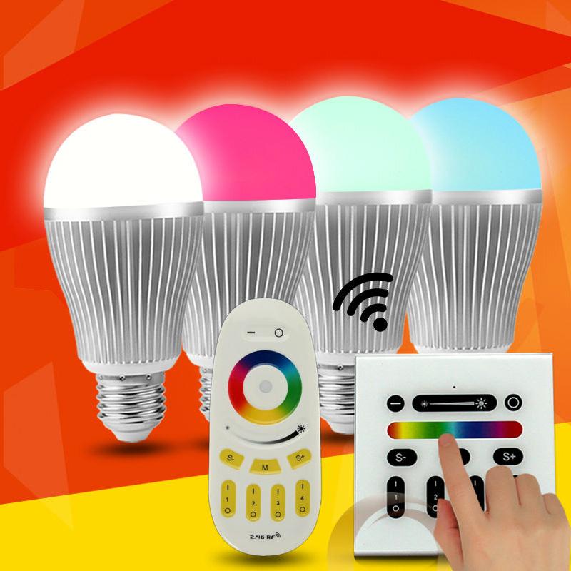 wholesale Multi-color 2700k-3000k led bulb SMD5630 6w e26/e27/b22 100-240v,rf dimmable e27 led rgb r
