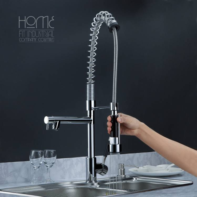 Hot sale high-pressure springs, pull-out faucet
