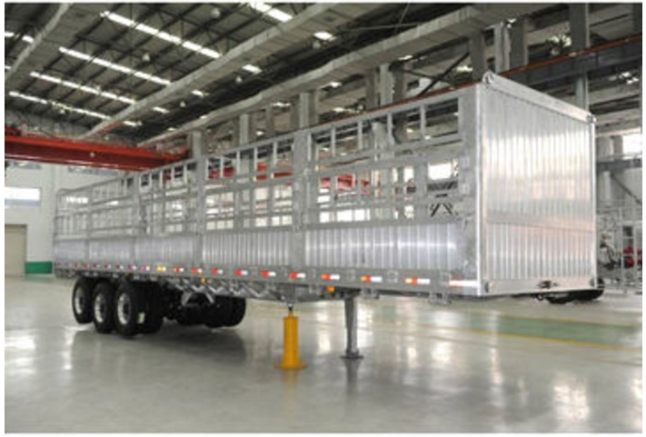 Aluminum trailer truck body, made of extruded profiles (ZW-TP- 024)