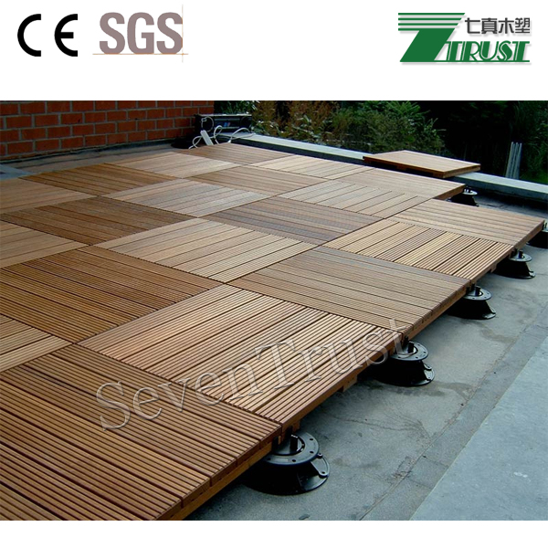 Cheap price bulk sale recyclable easy installation square DIY decking