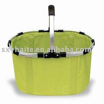 Plain folding shopping basket