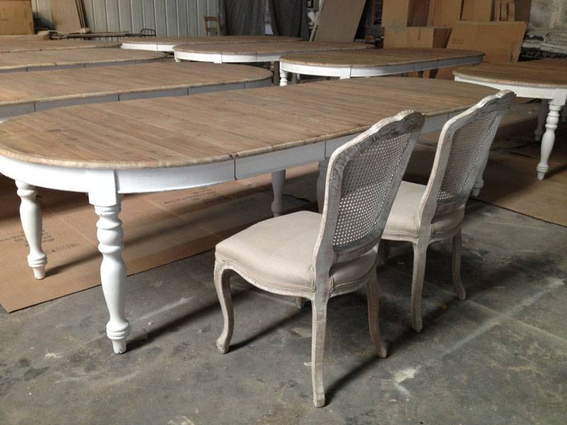 french country oblong oval extendable dining table