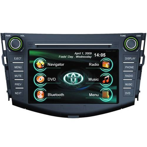 "TOYOTA RAV4 7"" Car DVD Player 2 Din GPS Bluetooth iPod"