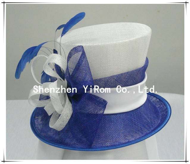 YRSM13060 sinamay hat,church hat,derby hat,race hat,occasion hat