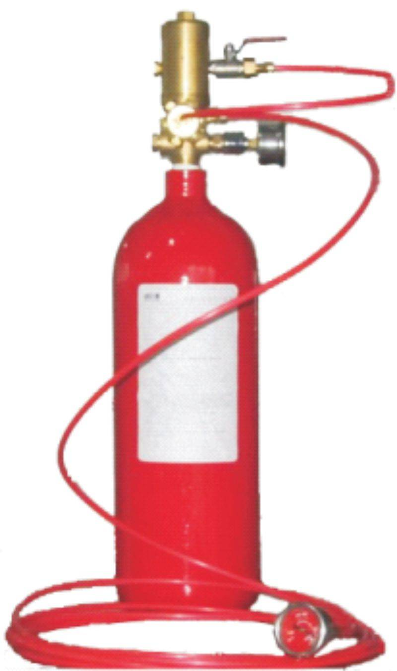 Self-actuated fire extinguishing equipment