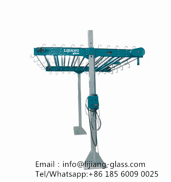 Spacer transferring machine of insulating glass machine