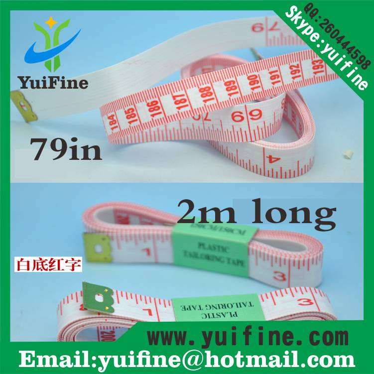 Hot Sell! 2m PVC White Tailor Tape Measure/2 Meters Long Soft Measuring Tape Hand Tools 79inch/200cm
