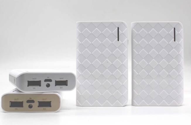 Wallet styly 7800mAh Power bank with rhombus surface smart phone