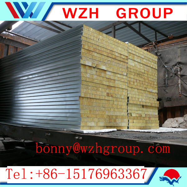 High quality rockwool sandwich panel for south africa