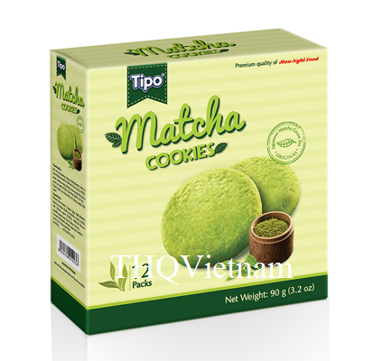 [THQ VIETNAM ] TIPO MATCHA COOKIES 90GR32BOXES