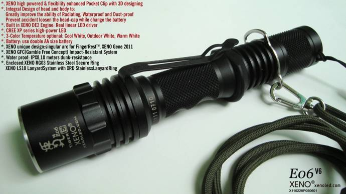 Police use, Tactical LED Flashligt, XENO E06